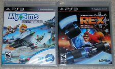 PS3 Game Lot - My Sims Sky Heroes (New) Generator Rex Agent of Providence (New)