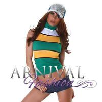 SEXY WOMENS LACE TANK TOPS casual sleeveless shirt CROP TOP BLOUSE summer print