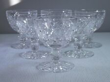 "Waterford Crystal Boyne Cut 3 1/2"" Liquor Cocktail Champagne Glass Set Of 6"