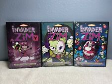 Invader Zim Volume 1 2 3 DVD Complete Set Nickelodeon Zim Gir Bundle TESTED WORK