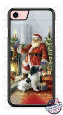 Classic Santa Claus and Dog Christmas Phone Case Cover for iPhone Samsung LG etc