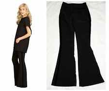 Lisa & Lucy The Kelsi Pant 2016 Black Flare Pants Velvet Sides $150 Womens Small