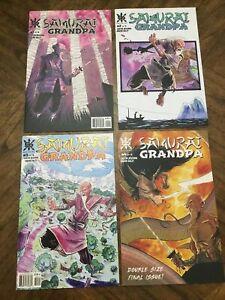 SAMURAI GRANDPA #1 2 3 4 (of 4) 1st print set SOURCE POINT PRESS Eastin DeVerna
