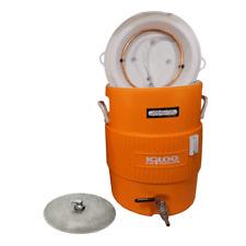 10 Gallon Cooler Mash Tun w/ Stainless Steel False Bottom & Valve