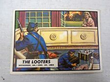 The Looters Civil War News trading Card #83 Southern Mansions Looted By Soldiers