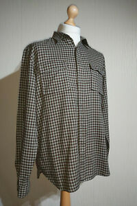 Paul Smith Long Sleeve Concealed Placket Check Shirt Mens Size L RRP £200