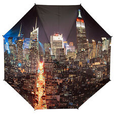 Galleria Auto Folding Umbrella - City Manhattan at Night
