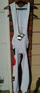 Mens Cycling Thermal Bib Tights Size 5 (XL) White Made in France