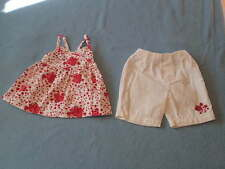 Target Gorgeous Little Girls Flower Top and Pants Set, Size 00