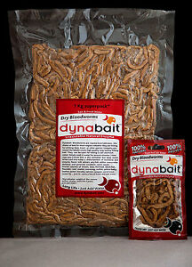 Dynabait Blood worms 3x1Kg  (live weight) fishing bait, 90 small satchels!