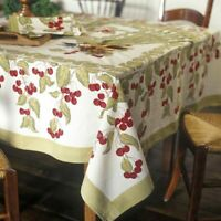 Couleur Nature Cherry Tablecloth Placemats Apron Runners Bruno Lamy Cherries