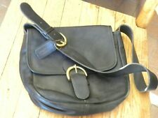VINTAGE COACH BLACK LEATHER MEDIUM SIZE PURSE FREE SHIPPING