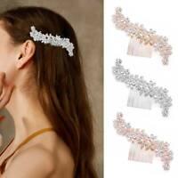 Elegant Wedding Crystal Hair Pins Clip Bridal Diamante Pearl Slide Comb Lady