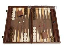 "19"" Wood Backgammon Set - Wenge with Side Racks | Wooden Backgammon Set Board"