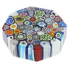 GlassOfVenice Murano Glass Millefiori Octagon Paperweight - Large