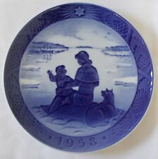 Royal Copenhagen Sunshine Over Greenland 1958 by Hans H. Hansen Christmas Plate