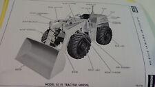 Clark Michigan 85 tractor shovel operators manual and service bulletins.