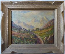 South African School in the manner of Tinus de Jongh, Antique Oil Painting