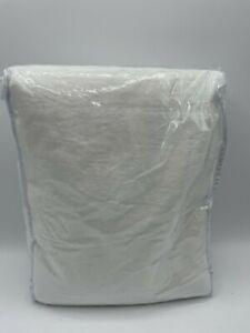 "New Pottery Barn Belgian Flax Linen Doublewide Drape 100"" x 84"" ~White~"