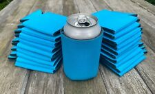 Lot of 24 Bright Blue Can Blank Beer Soda Koozies 12 oz Printable Sublimation