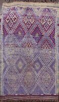Antique Vegetable Dye Authentic Moroccan Berber Handmade Oriental Area Rug 7'x9'