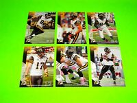 6 HAMILTON TIGER CATS UPPER DECK CFL FOOTBALL CARDS 33 36 38 39 40 121  #-1