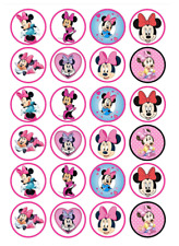 24 x Large Minnie Mouse Edible Cupcake Toppers Birthday Party Cake Decoration