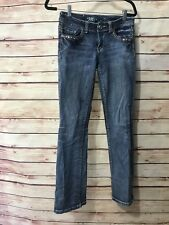 Miss Chic Womens Size 5 Skinny Medium Wash Jeans Casual Embellished Wear Comfort
