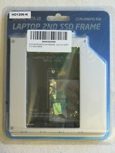 Slim optical caddy for M.2 SATA drive 12.7mm drive slot