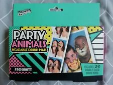 Brand New PARTY ANIMALS Wearable Facemats Party Fun x 20 double sided. Sealed.