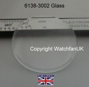 Mineral crystal glass Fits Seiko Jumbo 6138-3002 3003 6138-3005 365V06GNS #152