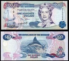 BAHAMAS 100 DOLLARS FRANCIS (P67) 2000 QEII UNC