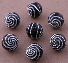 100 pcs Black Acrylic Spacer Jewelry making Findings Loose beads Charms 10mm