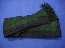 Scottish | Black Watch Tartan pleated Piper's Long Plaid | 3 1/2 y | Geoffrey