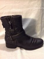Autograph Black Ankle Leather Boots Size 4.5