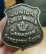 SILVER Junior Forest Warden Canadian Forestry Association Badge British Columbia