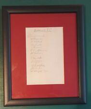 """1937-38 Burnley 1ST Team-firmato montato Album pagina di visualizzazione 11"""" x 9"""" FRAME"""
