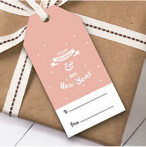 Coral Christmas Gift Tags (Present Favor Labels)
