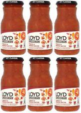 Loyd Grossman Pomodoro & bacon affumicato cucina SUGO Cibo Barattoli 6x 350g