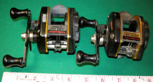 #730 2-VINTAGE ABU ULTRA MAG XL PLUS bait casting reels