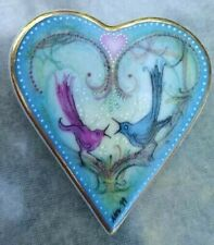 Vintage 1999 Anniversary Song Heart Birds Pendant Brooch Signed Anna Perenna
