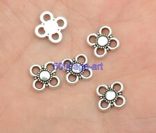 100pcs Tibetan Silver Charm flower Connectors 9mm fit Jewelry Finding  A3402