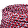 Textilkabel,Leitung,Faser umflochten,rund, Oddball rot/blau,3x0,75H03VV