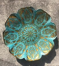 Vietri Gold Teal Decorative Bowl Home Decor