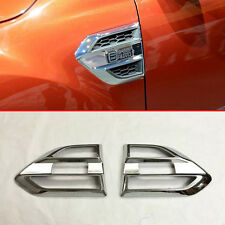 ABS Chrome Air Flow Vent Fender Trim Badge Sticker For Ford Ranger 2016 2017