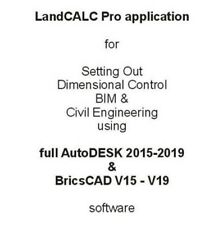 Setting Out application for the full AutoDESK/BricsCAD software line