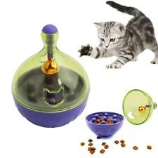 Tumbler Treat Ball Interactive Food Dispenser Cat Toy Snack Feeder BM