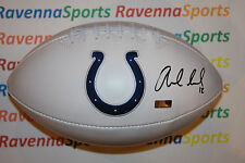 Andrew Luck Autographed Indianapolis Colts Logo Football PSA