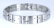 "USA RUBBER & STAINLESS STEEL Link Unisex Cool Bracelet SSB-022 (8.5"")"