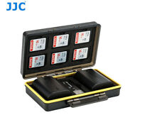 JJC BC-3LPE6 Hard Case for 2x Canon LP-E6/E6N battery /  6x SD Card 1x Reader